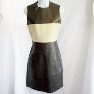 NWT New CELINE LAMBSKIN LEATHER Dress